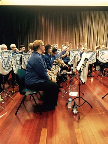 The Cornet Section in waiting at the Movie Magic Concert 20 September 2015
