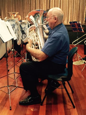 Dave Walker, principal euphonium, playing in the Movie Magic Concert 20 September 2015
