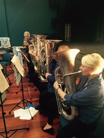 Warren Bell, solo cornet challenges the bass section at the Movie Magic Concert 20 September 2015