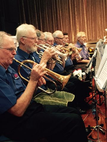 A busy cornet section at the Movie Magic Concert 20 September 2015