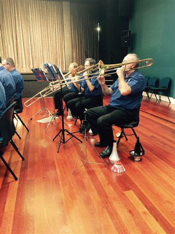 The Trombone Section of Marcus, Joe and Arthur feature in the Movie Magic Concert 20 September 2015