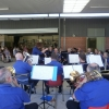 CNL Brass entertain at the Valentine School Concert under the baton of assistant musical director Teena Wallace 5 November 2016